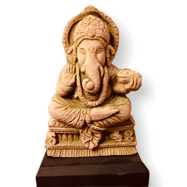 Ganesh Statue Sandstone - Floating Lotus