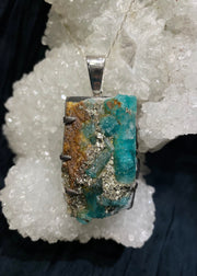 Nature's Heart Emerald & Pyrite Pendant