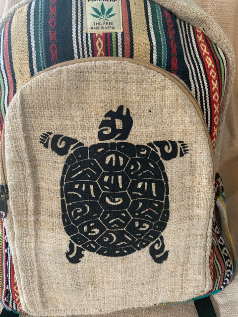 Turtle Hemp Backpack - Floating Lotus