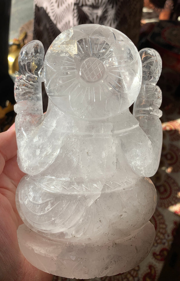 Large Crystal Ganesh Statue