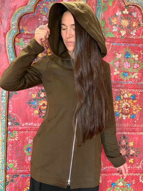 Organic Cotton Hooded Jacket