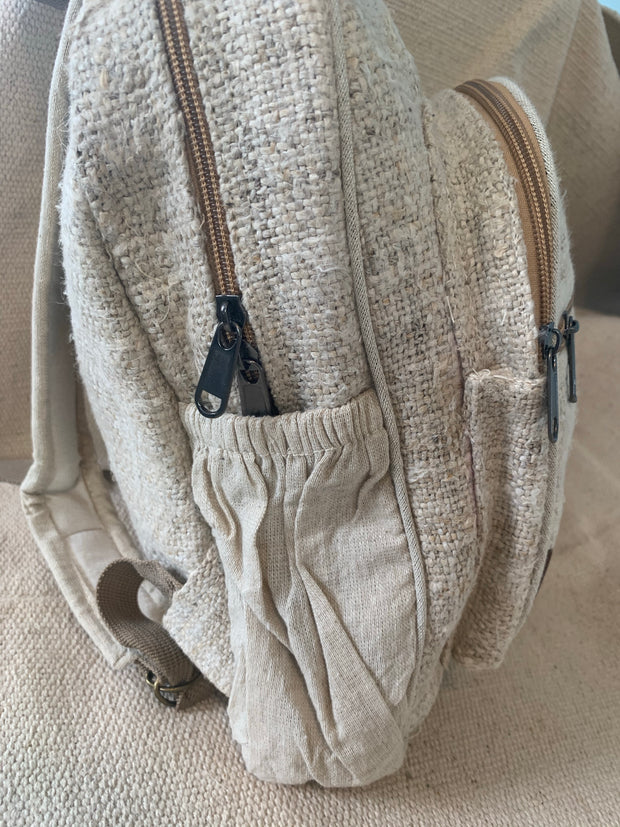 Hemp Backpack - Floating Lotus