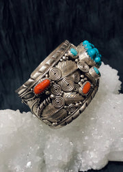 Nature's Bounty Raw Turquoise Cuff