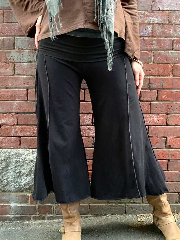 Wide Leg Gaucho Pants - Floating Lotus