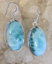 Larimar Azur Earrings - Floating Lotus