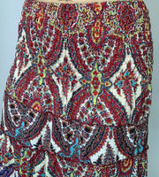 Long Paisley Panel Skirt