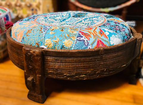 Antique Opium Table - Floating Lotus