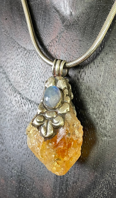 Citrine and Moonstone Joy Pendant