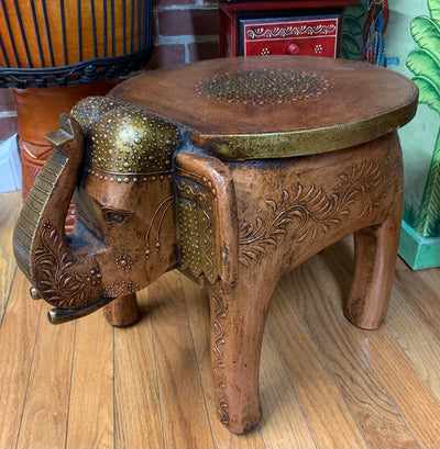 Elephant Stool-Brass and Copper