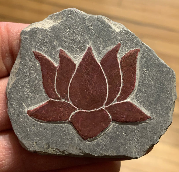 Lotus slate carving