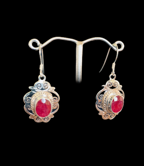 Jhali Ruby Earrings