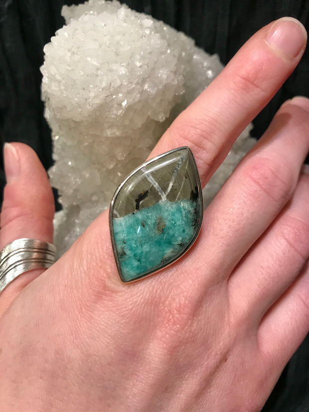 Seeker of Truth Emerald & Pyrite Ring