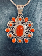 Mountain Coral Pendant - Floating Lotus