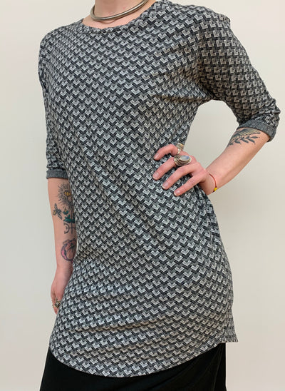 Jacquard Tunic - Floating Lotus