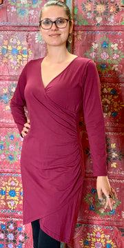 Organic Cotton Wrap Dress