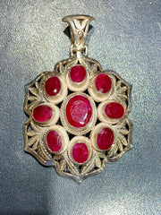 Ruby Pendant - Floating Lotus