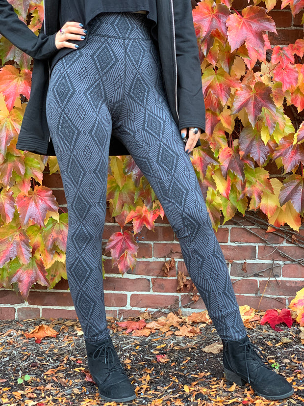 Organic Cotton Jacquard Leggings