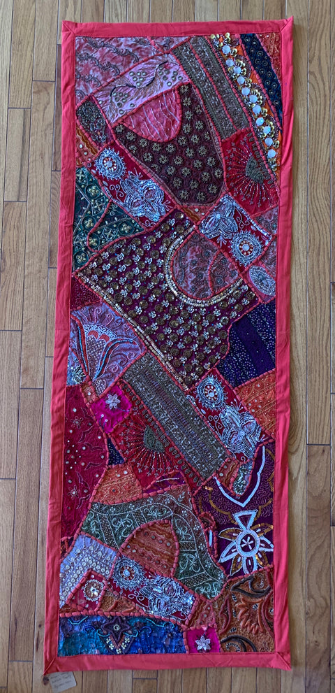 Red Patchwork Tapestry