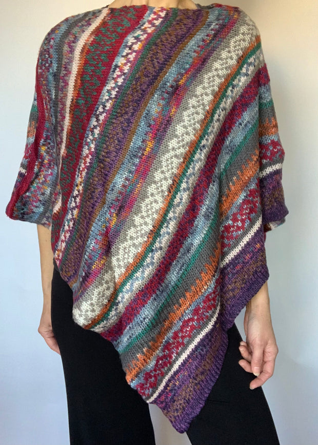 Hand Knitted Sweater Poncho
