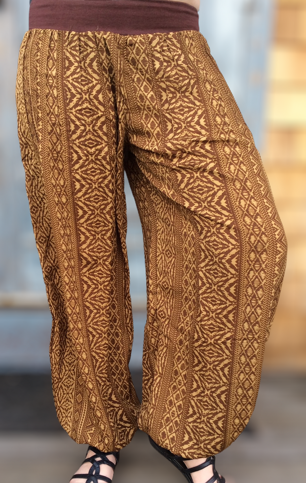 Tribal Print Harem Pants - Floating Lotus