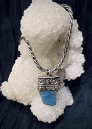 Mermaid's Treasure Rough Aquamarine Pendant