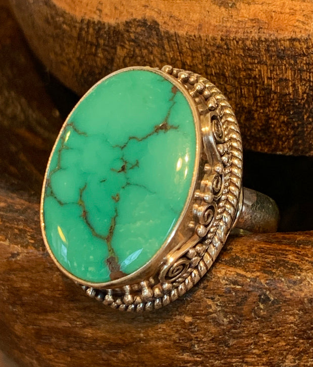 Turquoise Ring - Floating Lotus