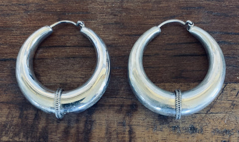 Braided Hoop Earrings - Floating Lotus
