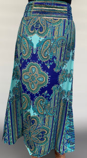 Paisley Sari Skirt - Floating Lotus