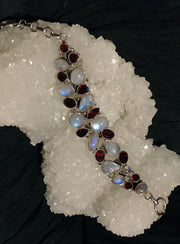 Healing Light Moonstone and Garnet