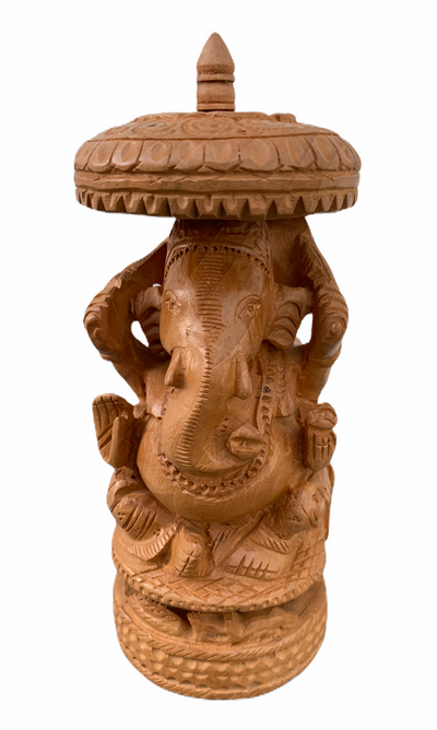 Ganesh Statue with Parasol - Floating Lotus