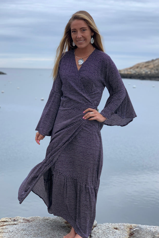 Lanai Wrap Dress - Floating Lotus