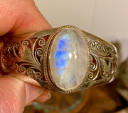 Sold! Moonstone Bracelet - Floating Lotus