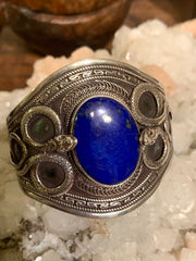 Vintage Lapis Bracelet - Floating Lotus