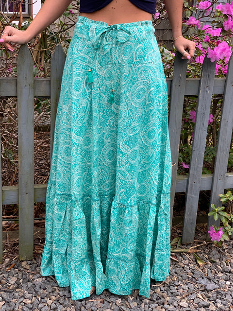 Asa Long Skirt - Floating Lotus