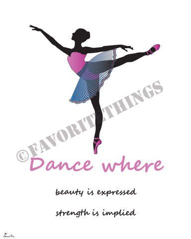 Ballet dancer or ballerina silhouette illustration | Arabesque: Dance - where beauty is expressed and strength is implied