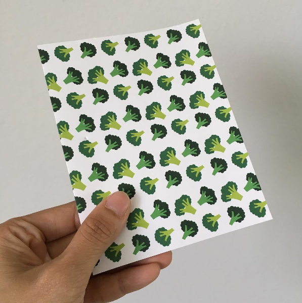 Broccoli Pattern Greeting Card