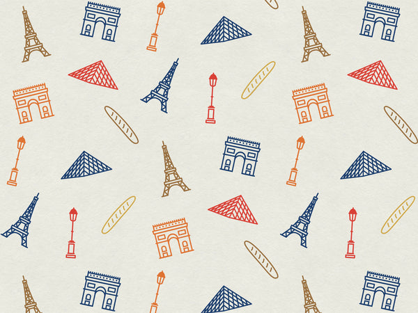 Pattern for Paris - notecard (color) - proceeds benefit #prayforparis