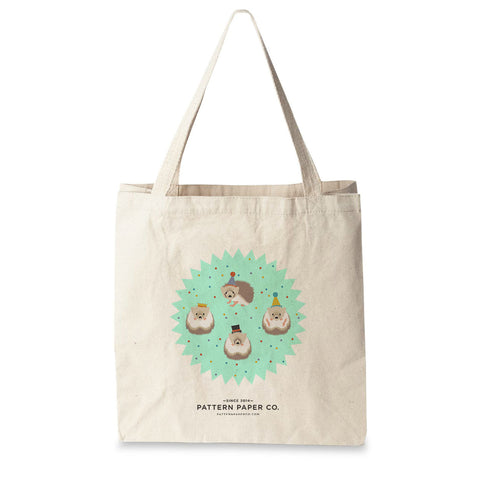 Hedgehog Tote Bag - Square