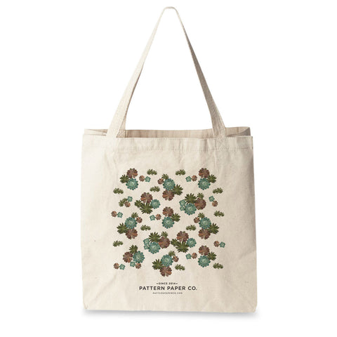 Succulent Tote Bag - Square
