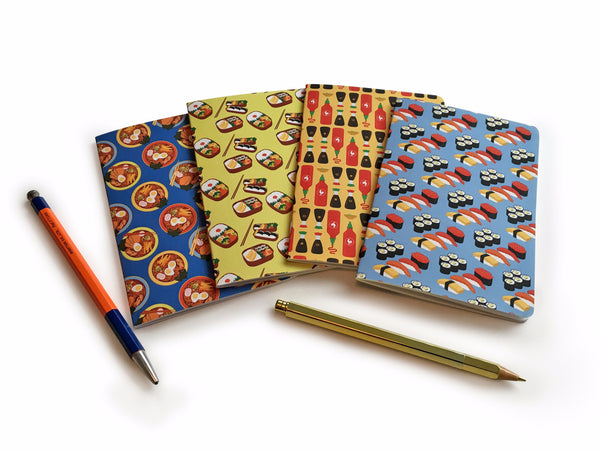 4 Notebooks Set  – Japanese Food