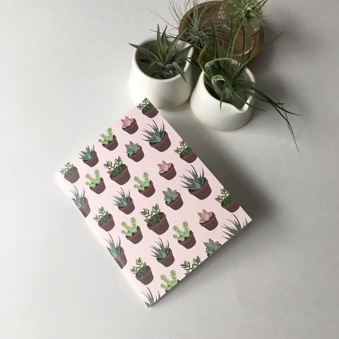 Succulent Pocket Notebook - Pink