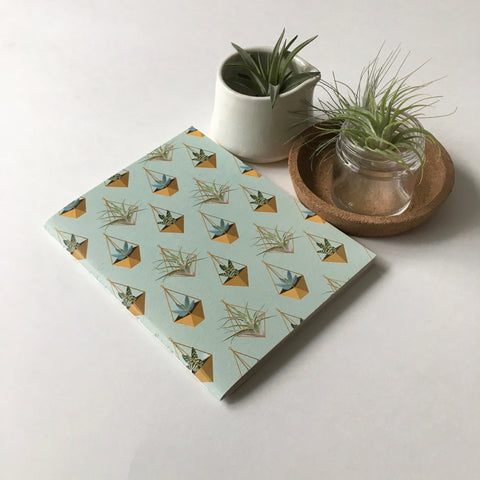 Hanging Succulent Pocket Notebook