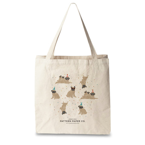 Pug Tote Bag - Square
