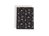 Pattern for Paris - notecard (black) - proceeds benefit #prayforparis