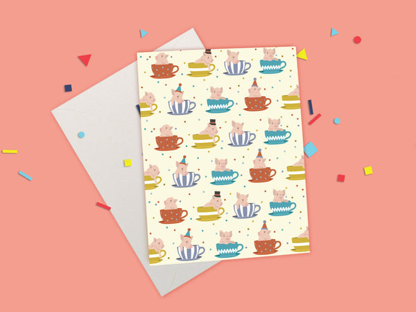 Teacup Pig - Party Animal Card