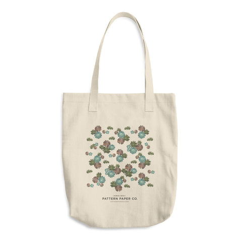 Succulent Top View Tote