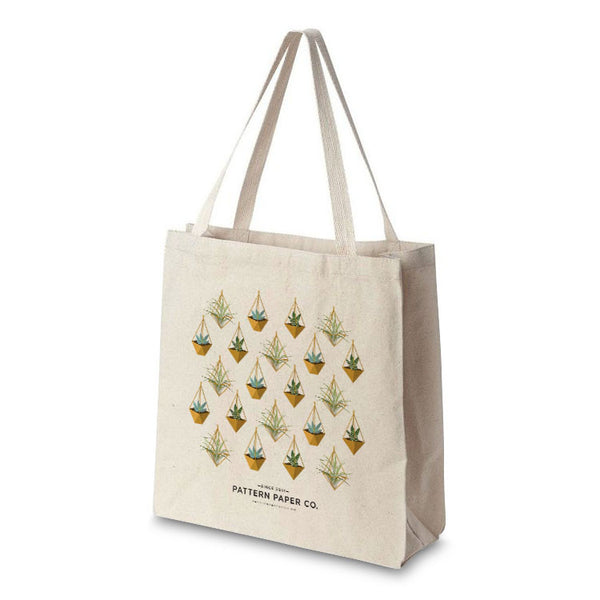 Hanging Succulent Tote Bag - Square