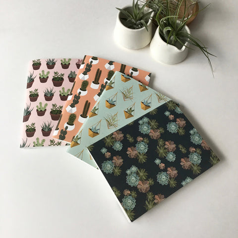 Desert Plant Pocket Notebook Set of 4