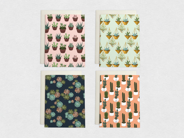 8 Succulent Card Set