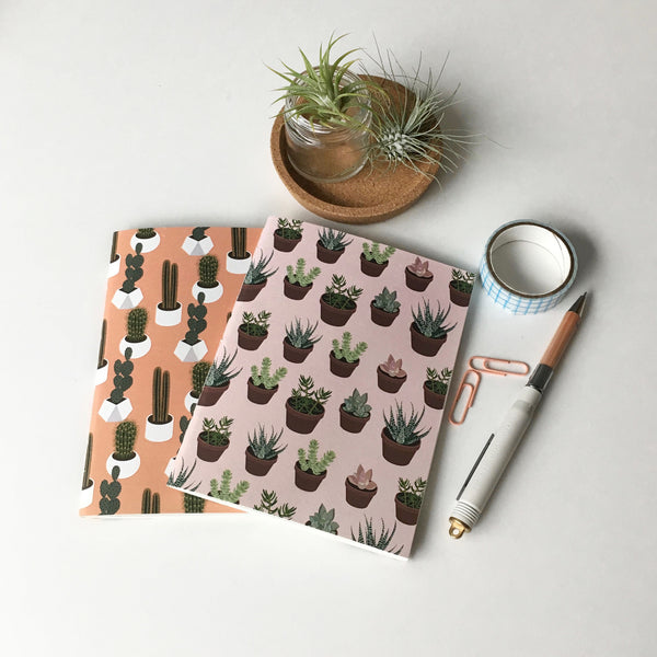 Succulent & Cactus Notebook Set of 2